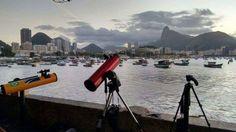 Observação astrônomica gratuita na Praia Vermelha