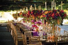 """bridalguidemag: Why We Love It: This rich color palette is perfect for a fall wedding! Photo Credit: Susan Stripling/Created By: Sasha Souza Events Get more ideas for tall centerpieces"""" data-componentType=""""MODAL_PIN Fall Wedding Centerpieces, Wedding Reception Decorations, Wedding Themes, Wedding Table, Wedding Ideas, Reception Ideas, Centerpiece Ideas, Wedding Planning, Wedding Backyard"""
