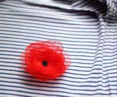 lulu.bijoux / ° brošňa mak červený °