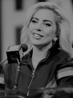 dailywomen:    Lady Gaga speaks onstage at the Pepsi Zero Sugar Super Bowl LI Halftime Show Press Conference on Feb. 2 2017 in Houston Texas.