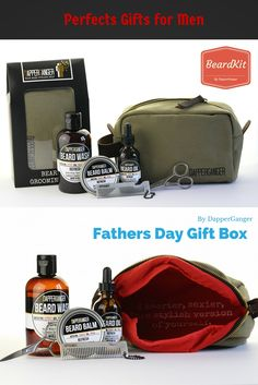 Beard Oil Beard Kit perfect for fathers day. Crush it with this awesome beard kit which includes beard oil, beard balm, beard wash all made with organic ingredients and includes a comb and scissors plus the ultimate Dopp Canvas Bag. Comes in an awesome gift box.