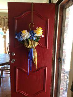 #DIY painted red front door