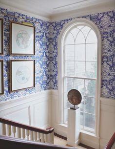 Mark D. Sikes: beautiful window for stairway landing
