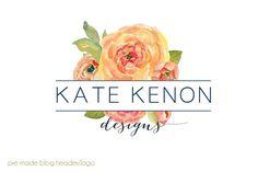 Logo Design Inspiration: Like the pop of colour.  Modern and feminine (bit of both)