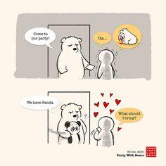 Panda And Polar Bear :: Party With Bears | Tapastic Comics - image 1