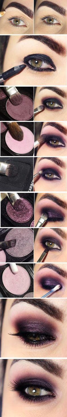 Gorgeous Smokey Eyes Makeup Tutorials With Purple Shade / Best LoLus Makeup Fashion---.Bellos ojos, mas bellos si ven bien.Controla tu vision cada año.lee nuestro blog Como relajar la vision y otros--