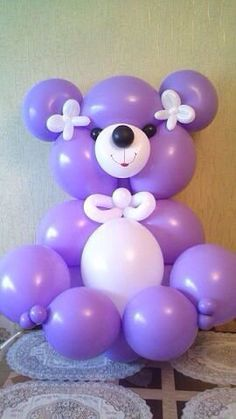 Adorable Teddy with LINK-O-LOON balloons! So easy, so cute in or balloon sizes. Balloon Lanterns, Balloon Centerpieces, Balloon Columns, Balloon Arch, Balloon Decorations, Baby Shower Balloons, Baby Shower Parties, Baloon Diy, Moana Birthday Decorations