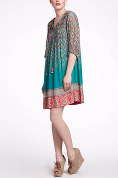 Tent-style dresses are pretty also! Not everything has to be fitted.  Glimmered Ankita Dress - Anthropologie.com