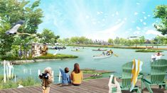 From fireworks to kayaks, step inside the well-produced world of renderings Landscape Architecture Design, Architecture Plan, New Urbanism, Tourism Development, Landscape Services, Sustainable Design, Worlds Of Fun, Service Design, Garden Design