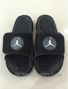 8e8776514d80 Mens Jordan Hydro 9 Slide Sandals Black White Authentic WjyKb