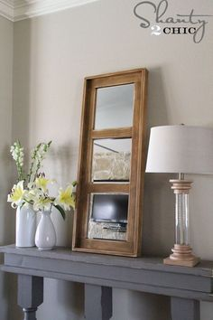 ***To keep up with all of our most current DIY Projects follow us on Instagram and Pinterest!*** Hey guys! I'm back to share the super cute Mirror that you may have seen hanging out on top of my DIY Console Table last week! It stands just over 4 ft. tall making it great for so {...Read More...}
