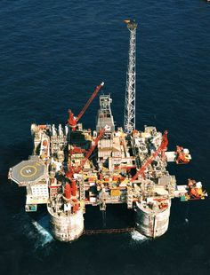 Statoil Heidrun Platform – North Sea Norway (World Largest TLP, First Application of Composite Riser, ConocoPhillips Magnolia TLP – Gulf of Mexico (World Deepest TLP, Oilfield Trash, Oilfield Wife, Oil Platform, Aviation Technology, Floating Platform, Drilling Rig, Oil Industry, Oil Rig, Crude Oil
