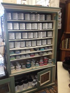 Reclaimed Decor in Napa, CA, beautiful display and cabinet painted with Paint Couture!