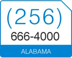 Buy (256) 666 4000 Vanity Number Alabama Area Code 256 Local Vanity  Telephone