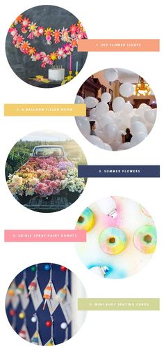1. This garland is brilliant. We're obsessed! 2. Technically this is an art installation – but I want to recreate it in real life! 3. Summer flowers are the best flowers. 4. You can spray paint donuts