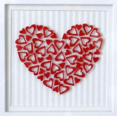 Framed 3D paper art. I made it to sell on my etsy site but kept one for myself to live in my living room! www.flutterline.etsy.com