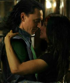 Loki and Jane. (With apologies to Thor for this non-canon pairing, of which I'm absolutely and shamelessly a fan.)