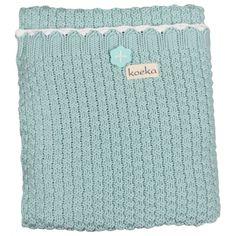 Nieuw binnen van Koeka: Prachtige nieuwe deken Valencia in de kleur mint www.jutenjuul.nl