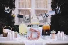 Outdoor Wedding Drink Station