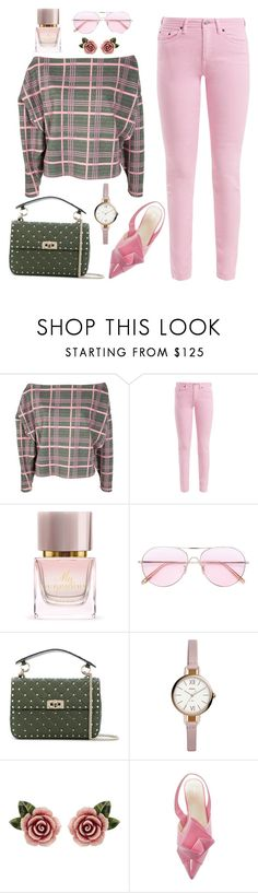 """""""Untitled #2610"""" by ebramos ❤ liked on Polyvore featuring Johanna Ortiz, Acne Studios, Burberry, Oliver Peoples, Valentino, FOSSIL and Dolce&Gabbana"""
