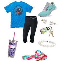 4/2/15 cooper has an ear infection by annahbirch on Polyvore featuring NIKE, Blue Nile and Lilly Pulitzer