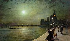 John Atkinson Grimshaw, Reflections on the Thames, Westminster,1880 - John Atkinson Grimshaw - Wikipedia, the free encyclopedia