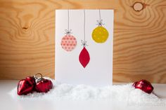 diy christmas card using washi tape/masing tape // diy weihnachtskarte mit kugelmotiv aus washi tape/masking tape