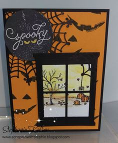 Stampin Up Happy Scenes halloween card. Holiday catalog