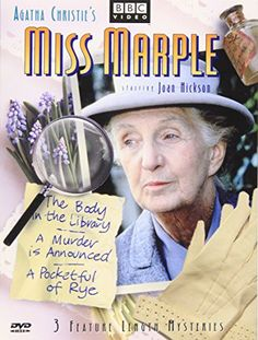 $9.45 Miss Marple - 3 Feature Length Mysteries (The Body in the Library / A Murder Is Announced / A Pocketful of Rye) Various Jane Eyer, Miss Marple, Movie Nights, Rye, Movie Tv, Mystery, Entertaining, Entertainment