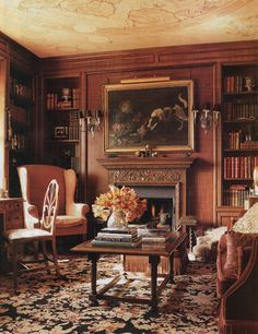 Axel Vervoordt-Dallas home of Betty Gertz-Southern Accents-Peter Estersohn English Interior, Classic Interior, Best Interior Design, English Library, English House, Country Style Homes, Cottage Style, French Cottage, English Country Decor