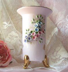 Vintage Shabby Chic Lefton China Vase by happybdaytome on Etsy, $15.00