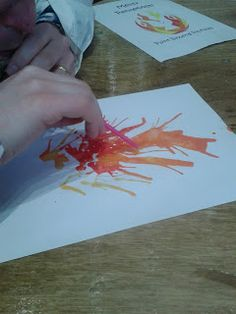 Paint blowing pictures and other Messy Church crafts for Pentecost | Flame: Creative Children's Ministry: