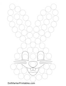 lapin de Pâques pour activité gommettes