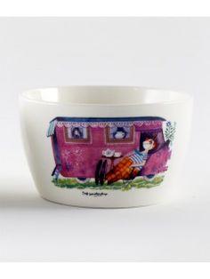 """By MIMI'S CIRCUS: Circus Tableware - 1 bowl """"Circus Trailer"""" (ceramics)"""