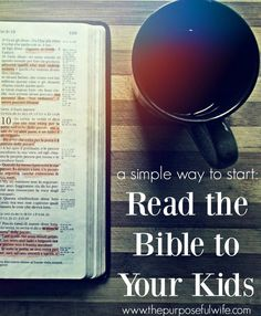 Can toddlers and preschoolers benefit from Bible Reading? YES! A great tool to get started.