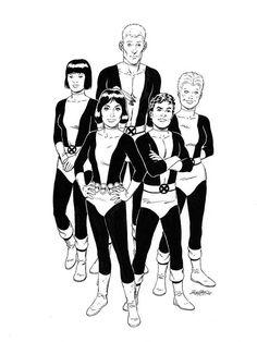 Marvel Comics of the 1980s: The New Mutants by Bob McLeod
