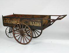 Steinberg's Radio Antique Peddler Wagon Cart 19thC