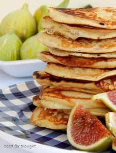 American Pancakes, American Breakfast, Breakfast Time, Breakfast Ideas, Waffles, Bacon, Brunch, Mille Crepe, Snacks