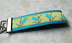 Wristlet Key Fob Key Chain Blue Bird  READY TO by CyndeesGarden, $6.00  https://www.etsy.com/listing/183052640/wristlet-key-fob-key-chain-blue-bird?ref=sr_gallery_4&ga_order=date_desc&ga_view_type=gallery&ga_page=7&ga_search_type=all