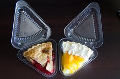 Cherry pie and peach pie from Perkins, USA My Plate, Griddle Pan, Grilling, Cherry, Peach, Pie, Dishes, Food, Grill Pan