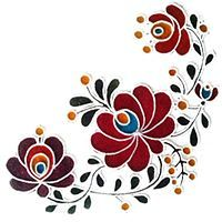 Ideas For Folk Art Painting Patterns Wool Applique Wool Applique, Applique Quilts, Paper Flower Patterns, Polish Folk Art, Hungarian Embroidery, Painting Patterns, Painting Art, Arte Popular, Stained Glass Art