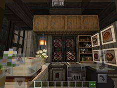Minecraft Bakery, Minecraft Kitchen Ideas, Minecraft Houses Survival, Minecraft Castle, Cute Minecraft Houses, Minecraft Houses Blueprints, Minecraft House Designs, Minecraft Bedroom, Minecraft Ideas