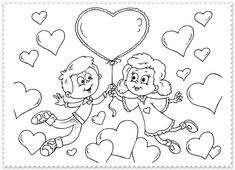 Beautiful Valentine's day online coloring pages for kids. Here you will find coloring pages of love and share it with your loved. Heart Coloring Pages, Online Coloring Pages, Animal Coloring Pages, Coloring Pages For Kids, Coloring Books, Fathers Day Coloring Page, Valentines Day Coloring Page, Free Printable Coloring Sheets, Free Printable Cards