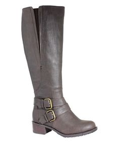 This Chocolate Vermont Wide-Calf Boot is perfect! #zulilyfinds