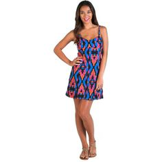 The sweet and sporty Volcom Women's V.Co Crush Dress cuts a flattering shape and features a bra-friendly back for all-day, comfortable wearability. Eco-friendly and easy-care materials makes this dress a no-nonsense choice for a casual outing or getaway. Adjustable tank-style straps give it an athletic look and let you control fit and coverage, and a natural waist lets you show off your curves.