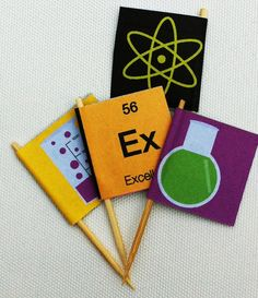 DIY INSTANT DOWNLOAD Printable 'Science' Party flags on Etsy, $4.80