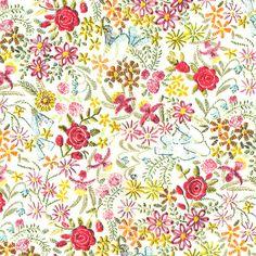 Liberty Tana Lawn Fabric Claudine One Yard. $35,00, via Etsy.
