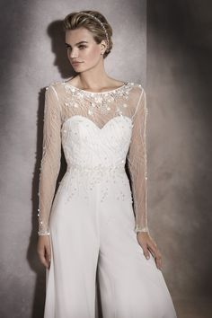 ca4482f2401 Elegance Redefined – The Beautiful New 2017 Bridal Collections From  Pronovias. Dressy Jumpsuit ...