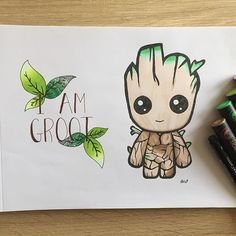 Loving this Groot artwork which has been created by @e_2801 using their Chameleon Pens! #chameleonpens #pen #marker #alcoholmarkers #markerpens #colour #color #colouring #coloring #groot #babygroot #art #artwork #artist #create
