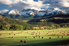 Ridgeway CO . one of the 2 prettiest places I've ever been in my life. I agree.I feel blessed to live in beautiful Colorado! Colorado Ranch, State Of Colorado, Colorado Homes, Colorado Mountains, Rocky Mountains, Montana Ranch, Telluride Colorado, Ranch Life, The Ranch